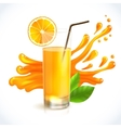 orange juice splash vector image
