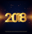 premium happy new year 2018 greeting card golden vector image