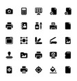 printing house glyph icons vector image vector image