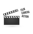 Realistic of open movie clapperboard or clapper