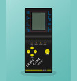 retro tetris electronic game vintage style pocket vector image vector image