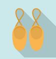 rhythmic gymnastics shoes icon flat style vector image vector image