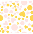 seamless pattern hearts for valentine day vector image vector image