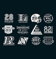 set emblems in sport style vector image