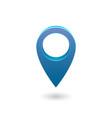 set map pointer 3d pin location symbols vector image vector image