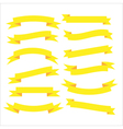 Set of beautiful festive yellow ribbons vector image vector image