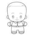 sketch a cute kid coloring book cartoon vector image vector image