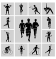 Sport icon set black vector image vector image