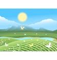 Spring farm landscape vector image vector image