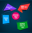 style text templates origami for banner vector image vector image
