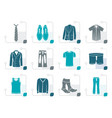 stylized man fashion and clothes icons vector image vector image