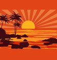 summer beatiful sunset backgrounds coast seashore vector image vector image