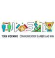 teamwork career banner vector image vector image