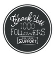 thank you for your support round label vector image vector image