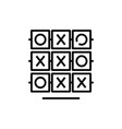 tic tac toe line icon concept sign outline vector image vector image