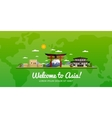 Travel and tourism vector image vector image