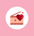 valentine clapperboard icon sign symbol vector image
