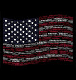waving united states flag stylization of strategy vector image vector image