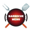 barbecue menu flyer invitation banner flat style vector image