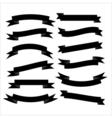 Set of beautiful festive black ribbons vector image