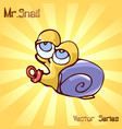 mr snail with kids vector image