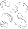 abstract 3d sketchy arrows sketchy set vector image