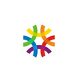 abstract logo - geometric shape futuristic tech vector image vector image