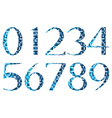 Abstract numbers vector image vector image