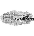 awareness is serious business text word cloud vector image vector image