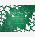 background leaves green vector image vector image