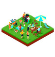 bbq picnic isometric vector image vector image