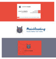 beautiful cat logo and business card vertical vector image