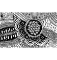 black and white doodle pattern coloring page vector image vector image