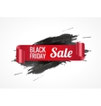 Black realistic curved paper banner Ribbon Black vector image vector image