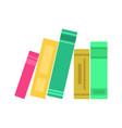 bookshelf icon in flat style vector image vector image