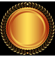 Bronze round frame vector | Price: 1 Credit (USD $1)
