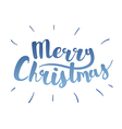 Brush lettering that says Merry Christmas vector image vector image