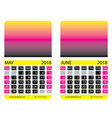 calendar grid may june vector image vector image