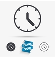 Clock sign icon Mechanical clock symbol vector image vector image