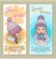 cololrful template for kid flyer cartoon vector image