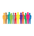 colourful people silhouettes vector image vector image