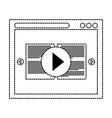 computer window design vector image