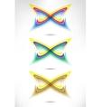 Design set of vertical modern backgrounds vector image vector image