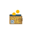 digital wallet concept flat icon vector image vector image