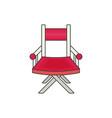 directors chair flat vector image vector image