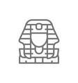egyptian pharaohs mask tutankhamun line icon vector image