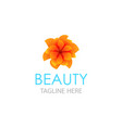 emblem in eps 10 for beauty saloon floral store vector image vector image