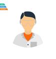 Flat design icon of chemist in eyewear vector image vector image