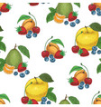 fruits and berries seamless pattern vector image