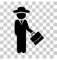 gentleman manager icon vector image vector image